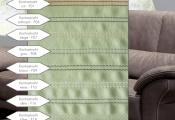 Kontrastné prešitie sedačky - PONSEL